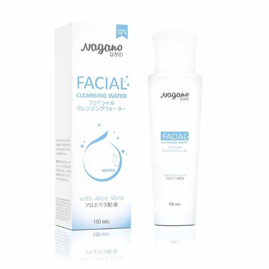 Nước Tẩy Trang Collagen Và Nha Đam Nagano Japan 150ml - Facial Cleansing Water Nagano 150ml
