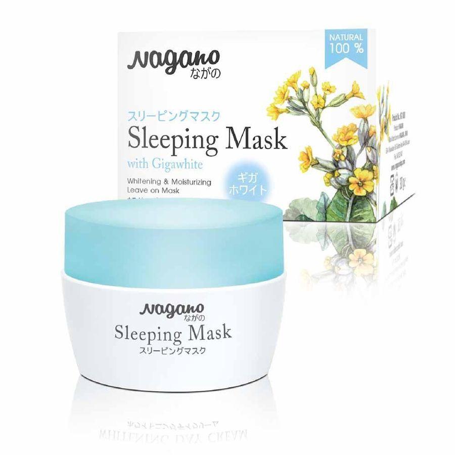 Mặt Nạ Ngủ Với Gigawhite Và Collagen Nagano 30g