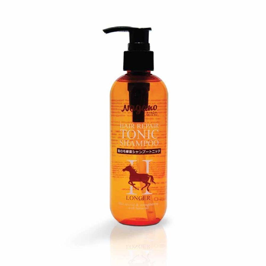 Dầu Gội Hỗ Trợ Phục Hồi Tóc Chiết Xuất Dầu Ngựa Nagano 250ml - Hair Repair Tonic Shampoo Nagano 250ml