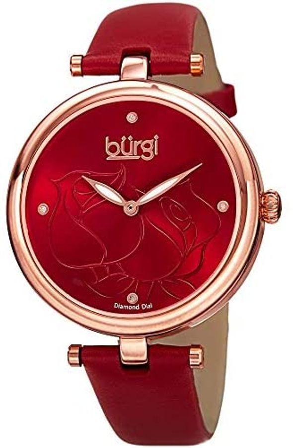 Đồng Hồ Nữ Burgi Women's BUR151RD Rose Gold Quartz Watch 37mm
