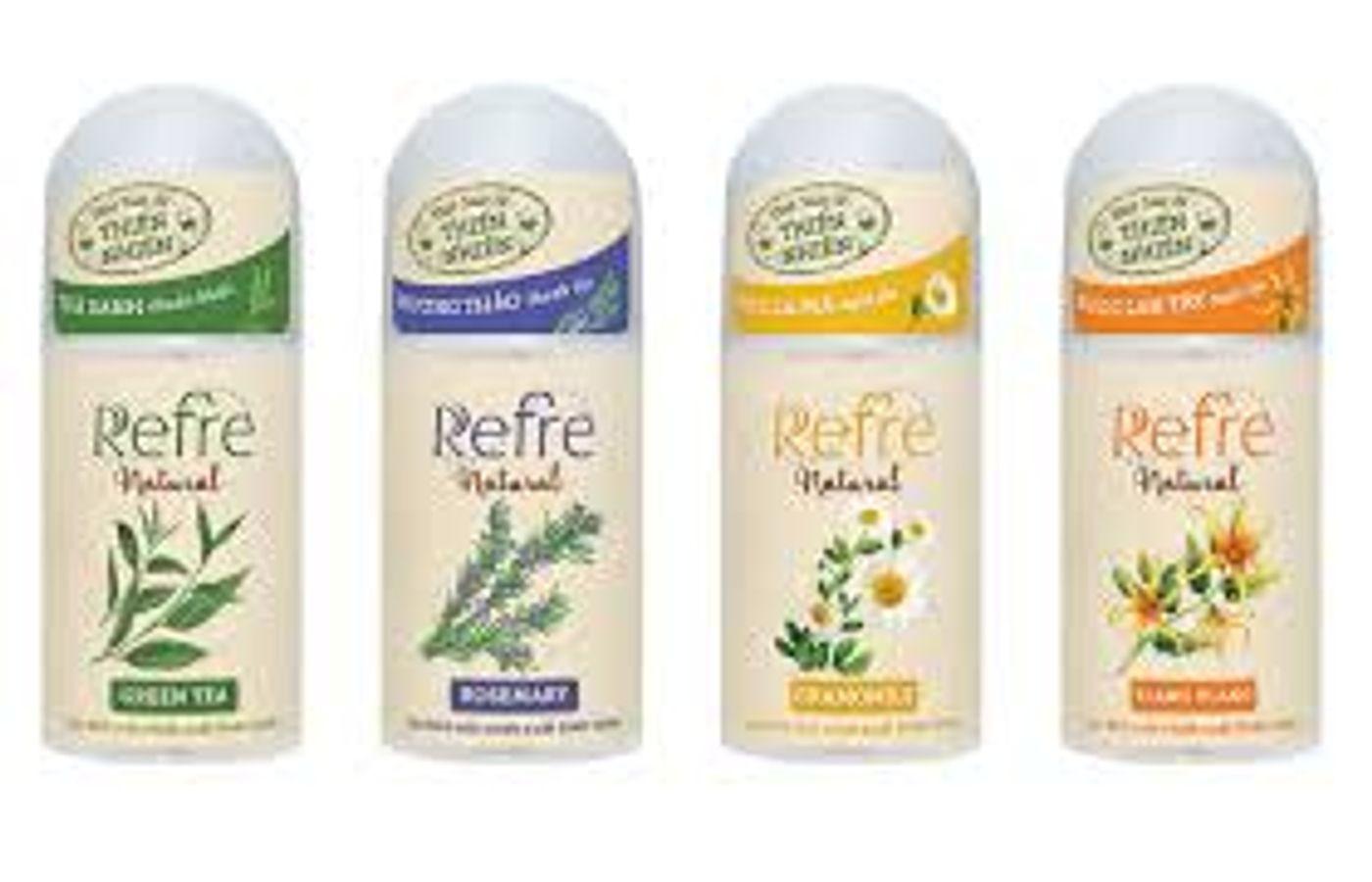 Lăn Khử Mùi Refre Natural 40ml Chiết Xuất Từ Thiên Nhiên