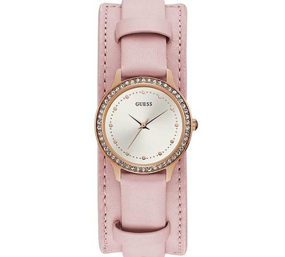 Đồng Hồ Nữ Guess U1150L3 Gold Tone Pink Genuine Leather
