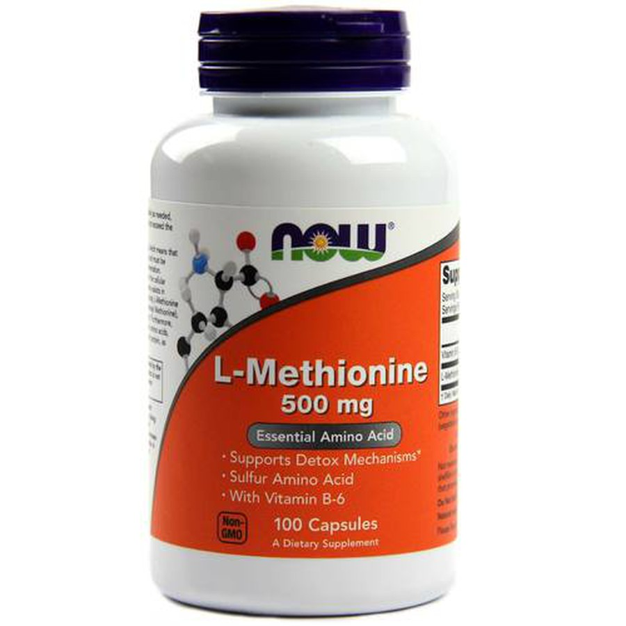 Viên Uống Hỗ Trợ Thải Độc Now L-Methionine 500mg Lọ 100 Viên