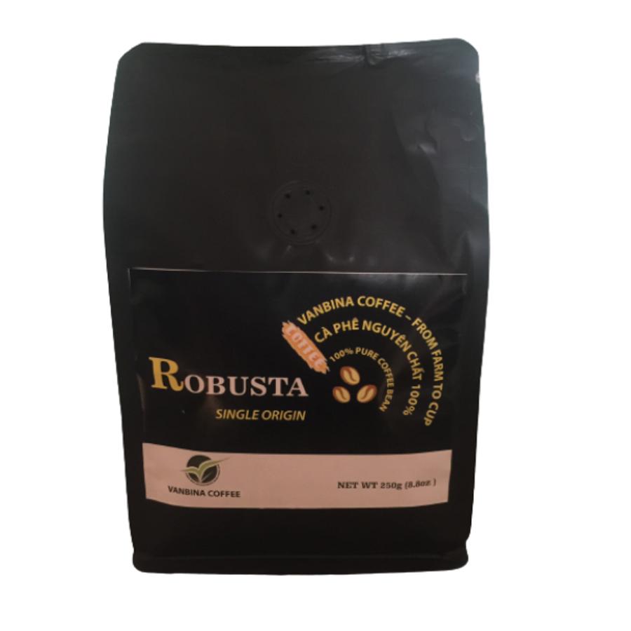 Cà Phê Nguyên Chất Rang Mộc Robusta Hữu Cơ Vanbina Coffee