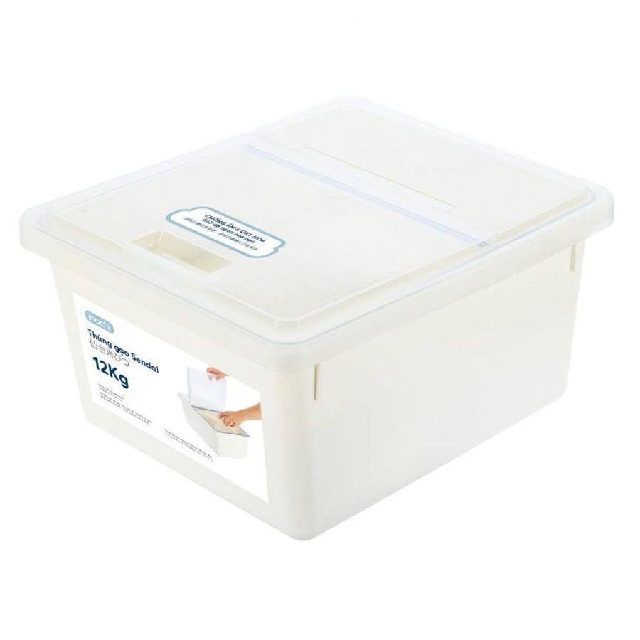 Thùng Nhựa Kháng Khuẩn Đựng Gạo Inochi Sendai 12kg