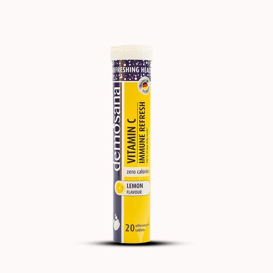 Viên Sủi Demosana VitaminC Immune Refresh Bổ Sung VitaminC Vị Chanh
