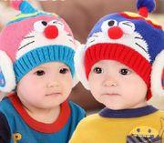 Mũ len cho bé họa tiết Doremon ngộ nghĩnh