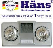 Đèn sưởi nhà tắm Hans thổi gió nóng 2 bóng