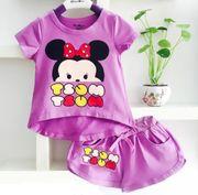 Bộ quần áo cho bé gái in hình chuột Mickey dễ thương