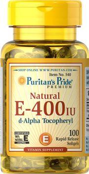Vitamin E tự nhiên 400 iu Puritan Pride d-Alpha Tocopheryl