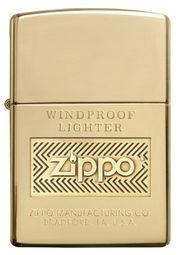 Bật lửa Zippo Logo Polish Brass Lighter 28145 thời thượng