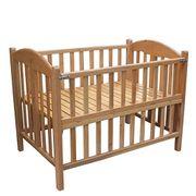 Cũi trẻ em gỗ sồi cao cấp cỡ đại (80x120cm)