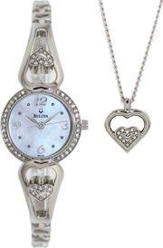 Đồng hồ Bulova 96X122 kèm dây chuyền dành cho nữ