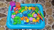 Bộ đồ chơi bể phao cho bé câu cá