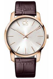 Đồng hồ CK K2G21629 dây da nâu lịch lãm cho nam