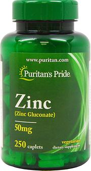 Viên uống bổ sung kẽm Puritan's Pride ZinC 50mg