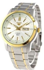Đồng hồ Seiko SNKM92K1 dây demi lịch lãm