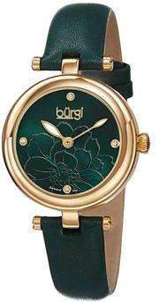 Đồng hồ Burgi BUR128GN dây da thanh lịch cho nữ