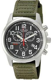 Đồng hồ Citizen Eco Drive dây dù xanh quân đội 40mm AT0200-05E