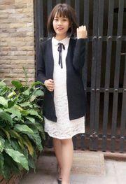 Áo khoác len Cardigan dáng dài cho nữ HNALO2