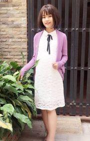 Áo khoác len Cardigan cổ lật cho nữ HNAL01