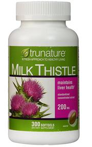 Viên uống Trunature Milk Thistle 200mg của Mỹ 300 viên