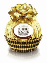 Socola Ferrero Rocher hình quả cầu vàng buộc nơ 125g