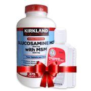 Combo Glucosamine HCL 1500mg Kirkland và Dầu Nóng Xoa Bóp Antiphlamine