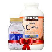 Combo Viên Uống Vita White Plus Nhật và Vitamin C 1000mg Kirkland