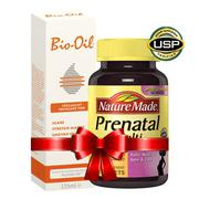 Vitamin bầu Nature Made Multi Prenatal, kem trị rạn da Bio Oil 125ml