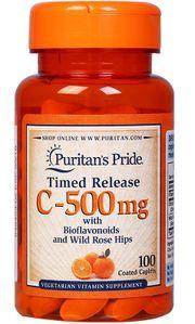 Viên uống Vitamin C 500mg Puritan's Pride của Mỹ