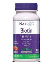 Viên ngậm hỗ trợ mọc tóc Biotin 5000 mcg fast dissolve 250 viên