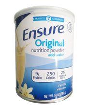 Sữa bột Ensure Original Nutrition Powder Add Water của Mỹ