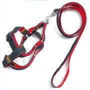 Bộ dây dắt yên ngựa vải da bò cho chó