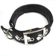 Vòng cổ đệm khóa in họa tiết bắt mắt cho chó