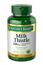 Viên uống giải độc gan Nature's Bounty Milk Thistle 250mg của Mỹ