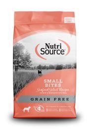 Thức ăn cho chó NutriSource Small Breed Seafood Grain Free vị cá hồi