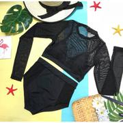 Set đồ bơi áo quần phối lưới ren sành điệu