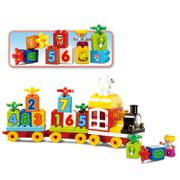 Bộ xếp hình tàu hỏa chữ số 63 mảnh ghép Toys House 77003