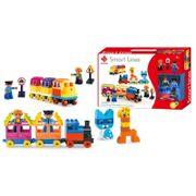 Bộ xếp hình tàu hỏa, động vật 60 mảnh ghép Toys House 77007