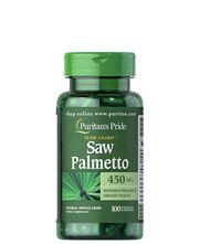 Puritan's Pride Saw Palmetto 450mg- Viên uống hỗ trợ tuyến tiền liệt