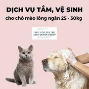 Voucher tắm và vệ sinh cho chó mèo lông ngắn 25kg đến 30kg