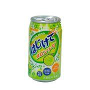 Lốc 12 lon nước soda Sangaria Hajikete vị dưa lưới thanh mát