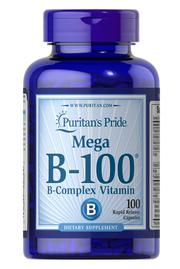 Viên uống Vitamin B-100 Complex Timed Release Puritan's Pride