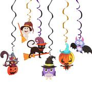 Set 6 dây treo trang trí Halloween hình xoắn ốc
