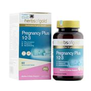 Viên uống Herbs Of Gold Pregnancy Plus 1-2-3 cho mẹ bầu và sau sinh