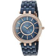Đồng hồ nữ Anne Klein AK/2620NVRG Swarovski Navy Blue Resin Bracelet Watch
