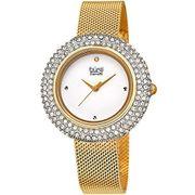 Đồng hồ nữ Burgi BUR220YG vàng gold case 36mm dây kim loại