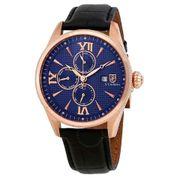 Đồng hồ nam SCoifman SC0173 dây da mặt xanh case 43mm