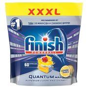 Túi 60 viên rửa chén Finish Quantum Max QT025460 hương chanh